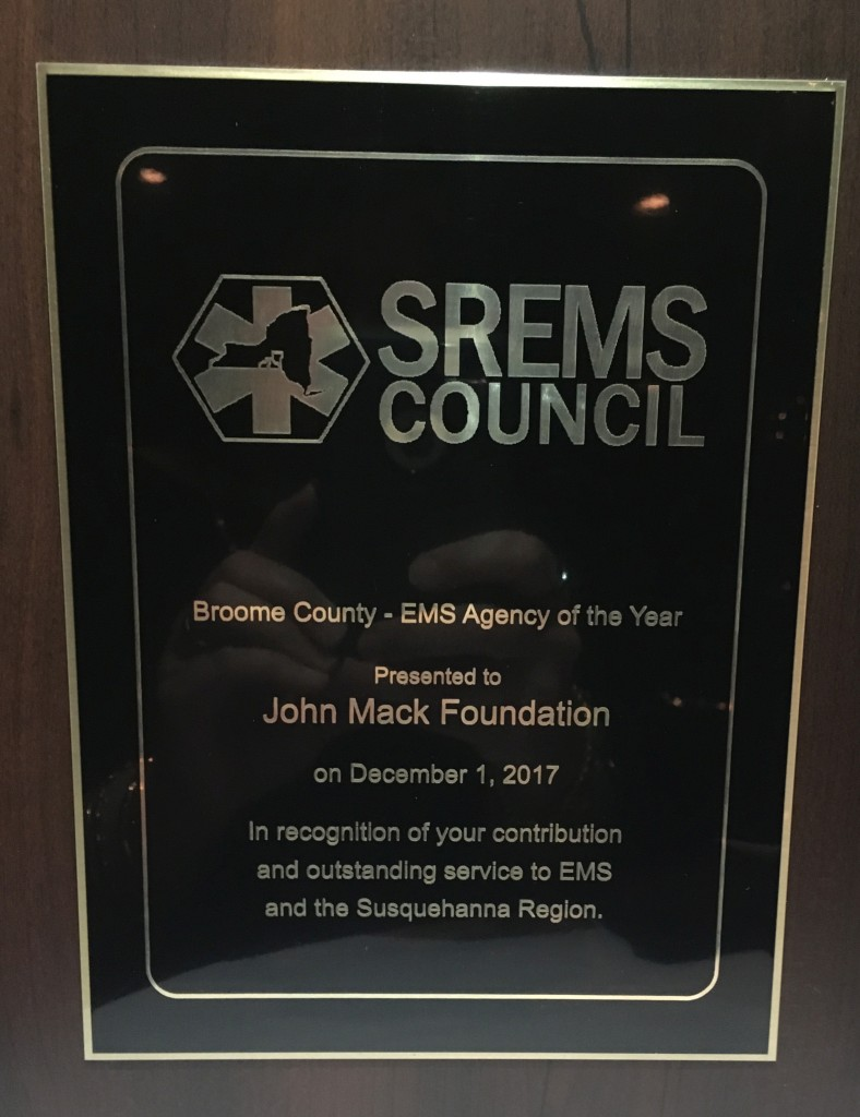 SREMS Award Placque
